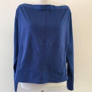 LAMB Blue Cotton Silk Blend Blue Blouse Size 2
